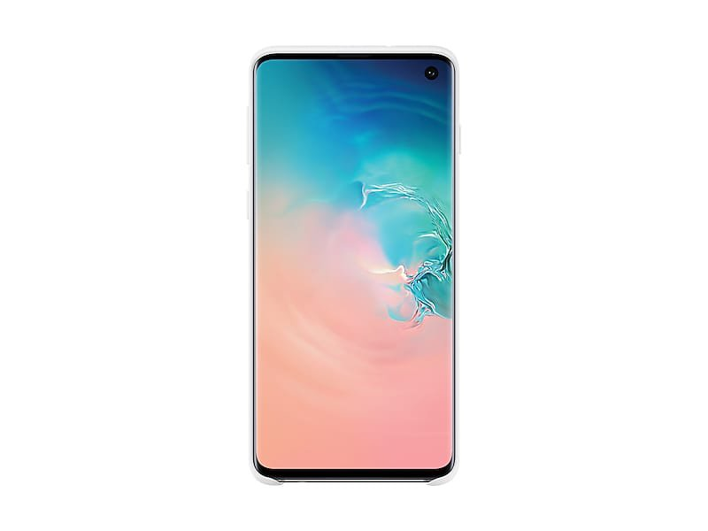 White Silicone Cover for Samsung Galaxy S10