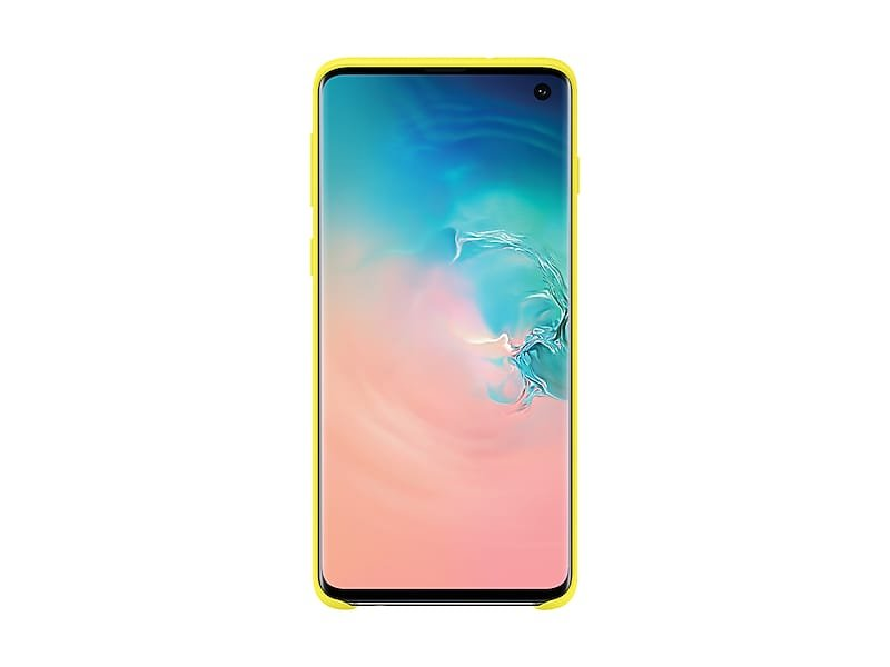 Yellow Silicone Cover for Samsung Galaxy S10