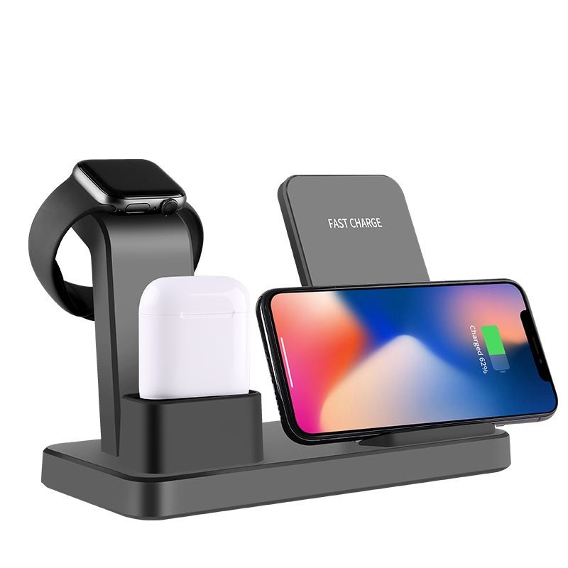 3 in 1 Multifunction Charging Stand for Apple Watch, AirPods, iPhone