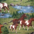 MadieBs Horses in the Meadow  Mat Pad Cover w/Name