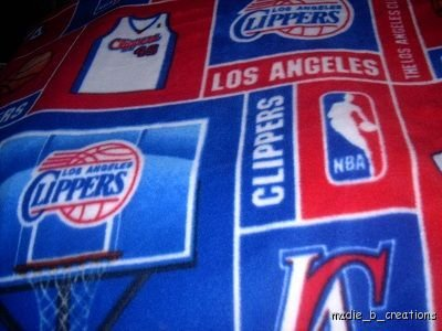 MadieBs L A  Clippers Fleece Toddler Baby Blanket 30x36