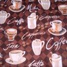 MadieBs Coffee Cups Java  Custom  Window Valance New