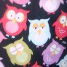 MadieBs Colorful Owls Custom  Pillowcase w/Name