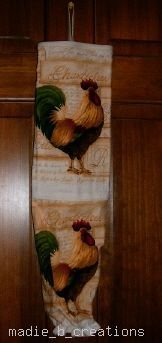 MadieBs Rooster Cock  Plastic Bag Holder Dispenser