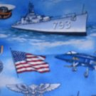 MadieBs Set of 2  U.S. Navy Ships  Crib Sheets New