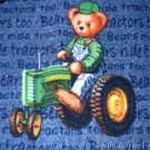 MadieBs Teddy on Tractor  Toddler Baby Blanket 30c36