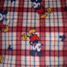 MadieBs Mickey Mouse Plaid Crib/Toddler Bed Sheet Set