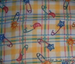 MadieBs Set of 2 Cute Diaper Pin  Crib Sheets New