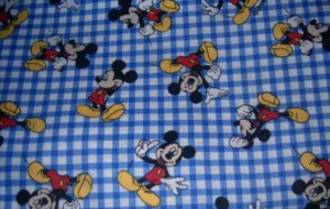 MadieBs Mickey Mouse Blue Check Personalized Pillowcase