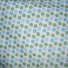 MadieBs Blues and Greens Dots  Personalized  Pillowcase