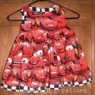 MadieBs Custom Lightning McQueen Cars Dress SZ 2/2T NEW