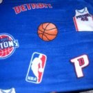 MadieBs Detroit Pistons Fleece Toddler Baby Blanket