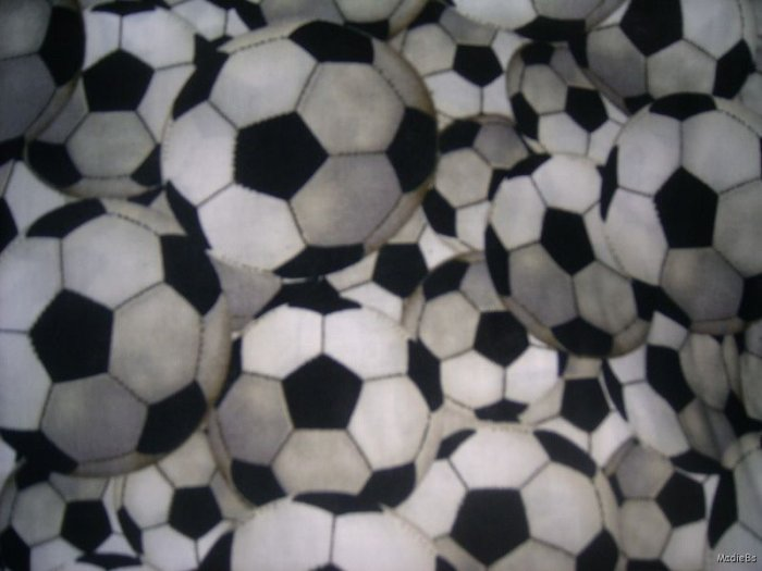 MadieBs Set of 2 Scoccer Balls  New  Crib Sheets