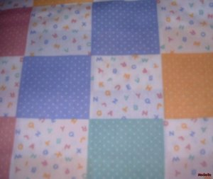 "MadieBs Set of 2 ABC""s Squares New  Crib Sheets"