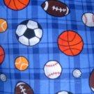 MadieBs Sport Balls on Blue  Toddler Pillowcase w/name