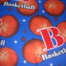 MadieBs BasketBall Fannel Toddler Pillowcase w/name