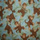 MadieBs Cute Monkeys Custom  Window Valance New