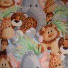 MadieBs CUSTOM LION ELEPHANT TIGER JUNGLE CRIB SHEET