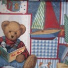 MadieBs Blue Jean Teddy Kinder Nap Mat Pad Cover w/Name