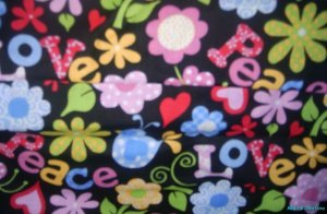 MadieBs Peace Sign Love Flower Personalized  Pillowcase