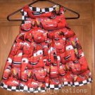 MadieBs Lightning McQueen Dress/Jumper Custom New Sz 3