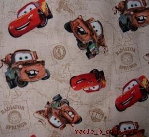 MadieBs Mater &  McQueen TanToddler Pillowcase w/name