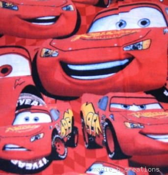 MadieBs Lightening  McQueen  Crib/Toddler Bed Sheet Set