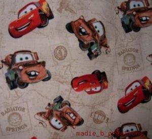 MadieBs Mater & McQueen Tan  Crib/Toddler Bed Sheet Set