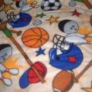 MadieBs All Sport Flannel Custom  Pillowcase  w/Name