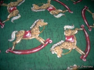 MadieBs Rocking Horse  Crib Sheet Custom New