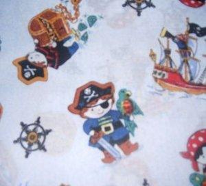 MadieBs Little Pirates Ships Crib/Toddler Bed Sheet Set