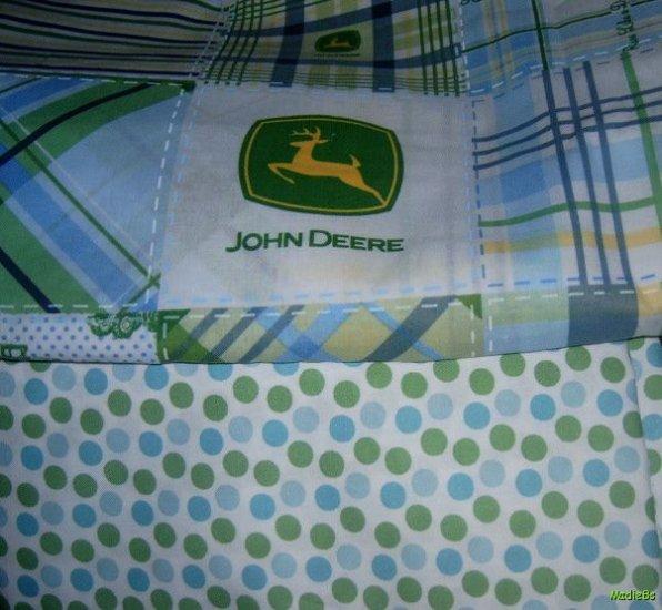 MadieBs John Deere Plaid  Custom Crib Set New