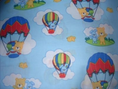MadieBs Hot Air Balloons Toddler Bed Sheet Set 3 Pc