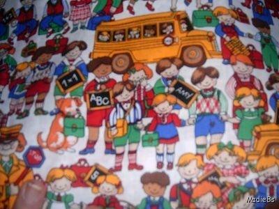 MadieBs Schhol Bus Children  Custom  Pillowcase  w/Name