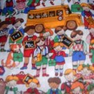 MadieBs Schhol Bus Children  Custom  Pillowcase  w/Name