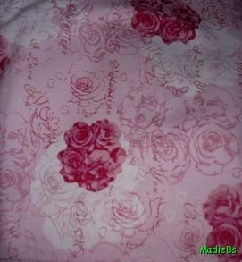 MadieBs Valentine Roses  Custom  Pillowcase  w/Name