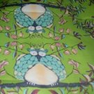 MadieBs Large Owls on Green  Toddler Bed Sheet Set 3 Pc