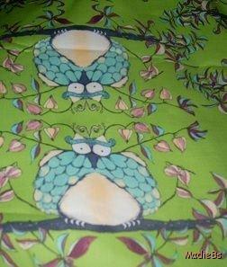 MadieBs Sweet Owls on Green Custom  Pillowcase  w/Name
