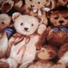 MadieBs Teddy Bears Cute Fitted  Crib Sheet Custom New