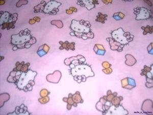 MadieBs Set of 2 Hello Kitty Pink Cotton  Crib Sheets
