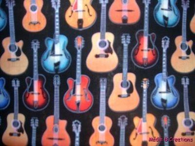 MadieBs Colorful Guitars Custom  Pillowcase  w/Name