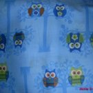 MadieBs Hoot Owls on Blue Custom  Pillowcase  w/Name