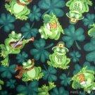 MadieBs Frogs & Shamrocks  Custom  Pillowcase  w/Name