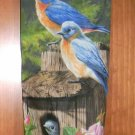 MadieBs BlueBirds Robins Plastic Bag Holder Dispenser