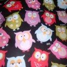 MadieBs Cute Owls Kinder Nap Mat 3 Piece Set w/Name