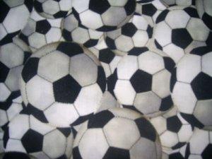 MadieBs  Soccer Balls Crib Toddler Bed Sheet Set New