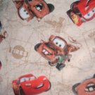 MadieBs Cars Mater Tan  Crib Toddler Bed Sheet Set New