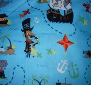 MadieBs Pirate Ship Cute Boys  Nap Mat Pad Cover w/Name