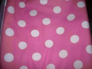 MadieBs Pink White Polka Dot Custom  Window Valance