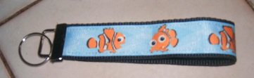 MadieBs Nemo Clown Fish Key Fob Wristlet New